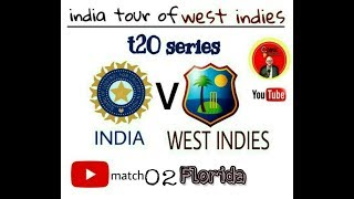 INDIA V WEST INDIES | 2ND T20 | FLORIDA | GAMEPLAY | REAL CRICKET GO