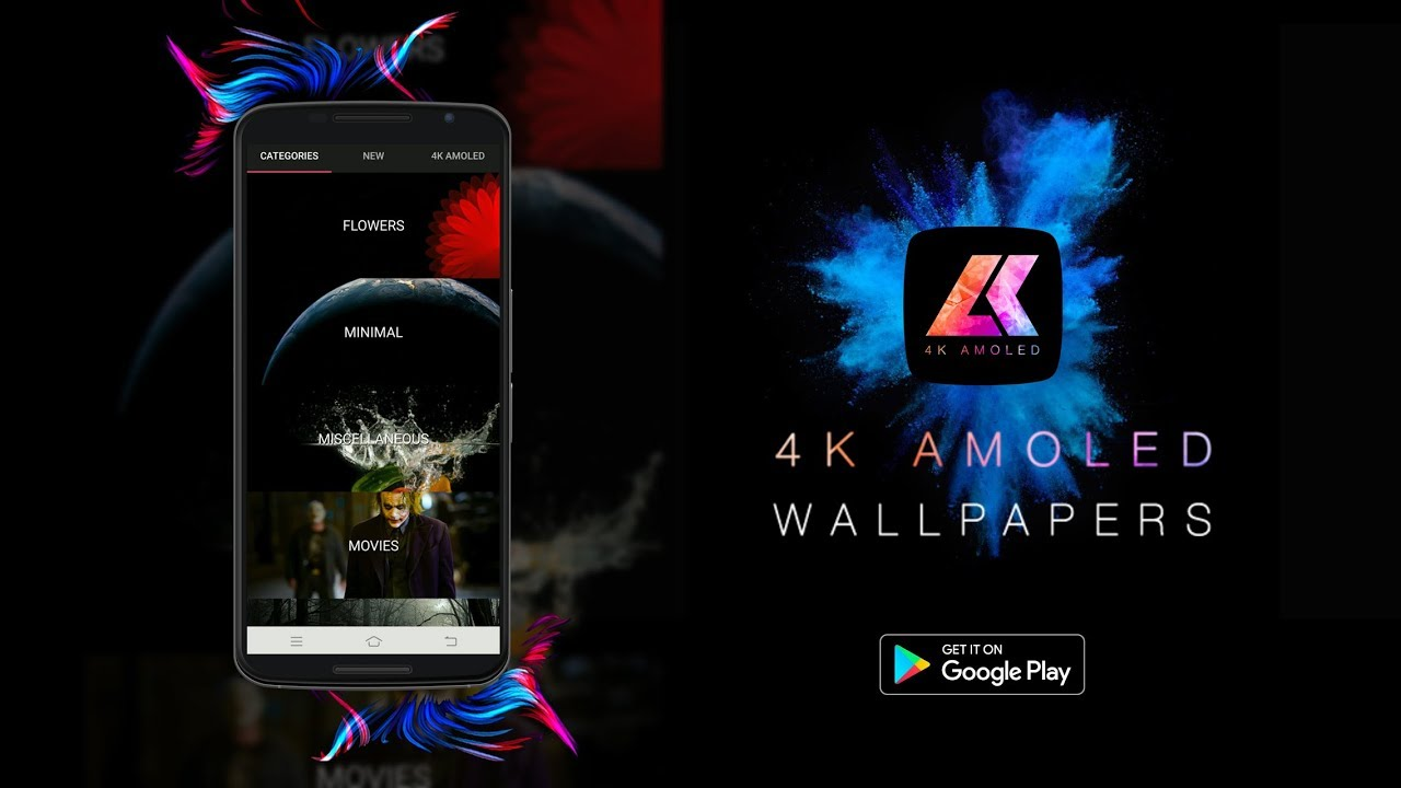 Amoled 4k Wallpapers App On Play Store Promo Video
