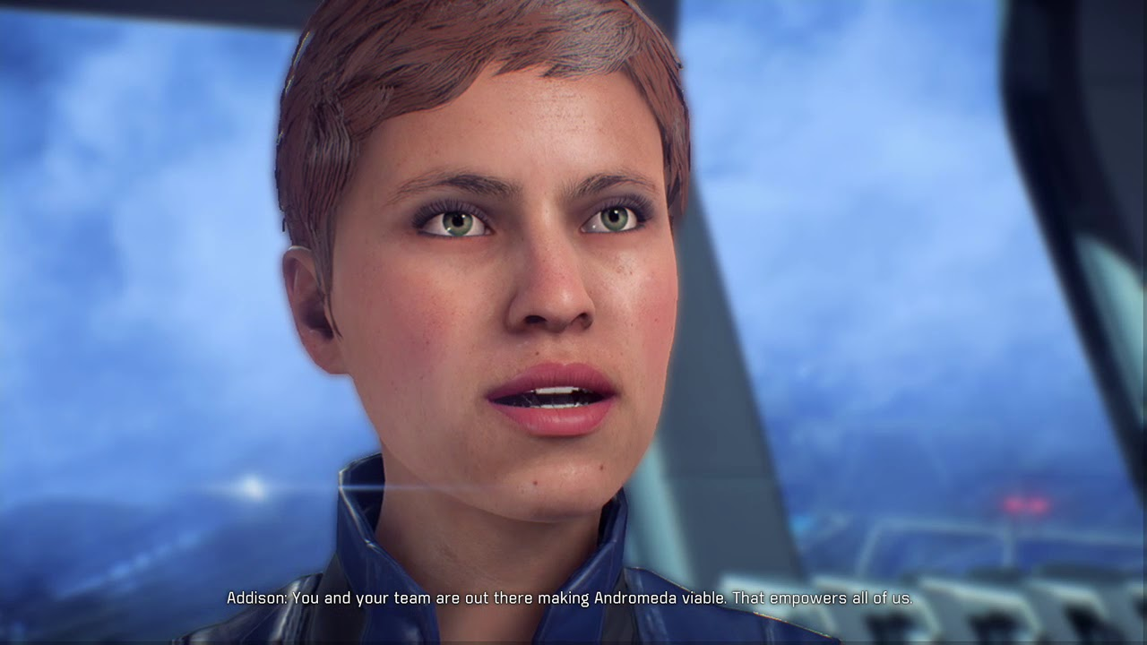 Mass EffectTM Andromeda Addison Talking To Ryder After The Eos Settlements