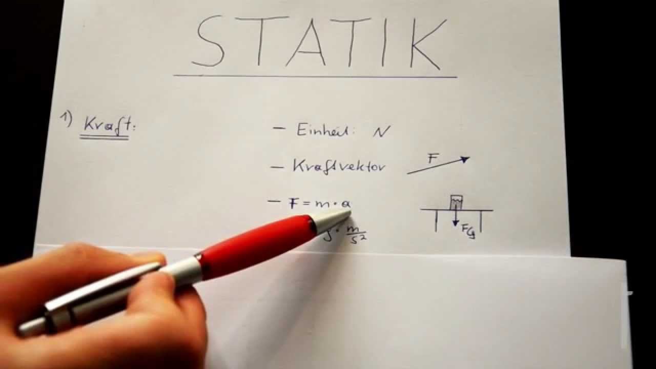Mechanik nachhilfe video 1 einf hrung in die statik de for Statik mechanik