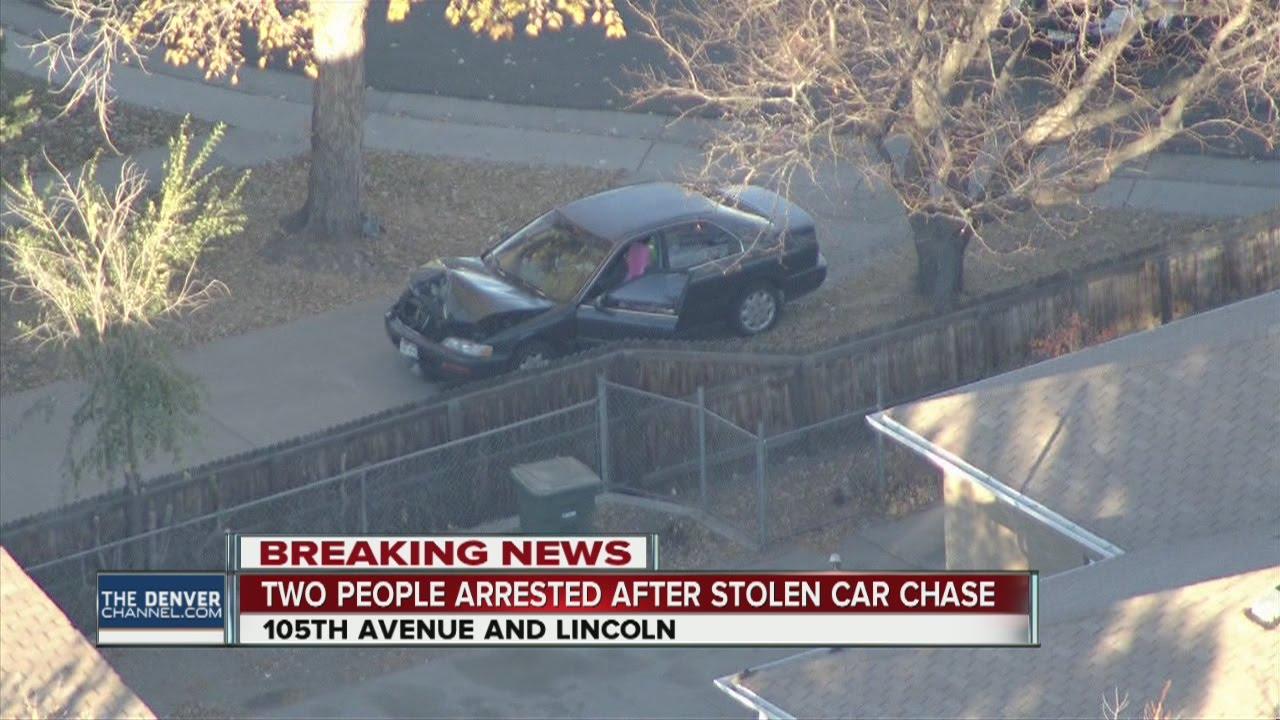 High-speed chase in stolen car ends in Northglenn crash