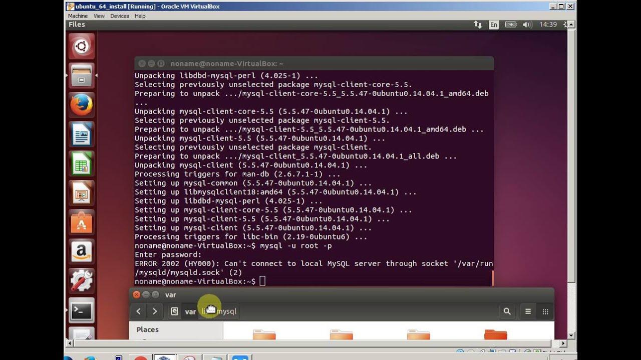 Mysql error - Can't connect to local MySQL server through socket mysqld sock