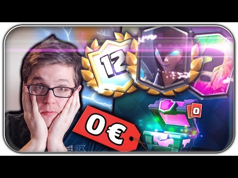 F2P FIRST TRY NACHT HEXE 🎁 2 LEGENDÄRE KOSTENLOS | Clash Royale Let's Play | Deutsch German