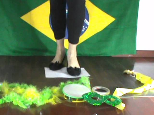 Learn to dance samba using a sheet of paper Travel Video