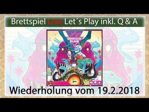 Dinosaur Island (engl.) Brettspiel Live Let's Play inkl. Q&A mit Mirko Wdh. vom 19.2.2018