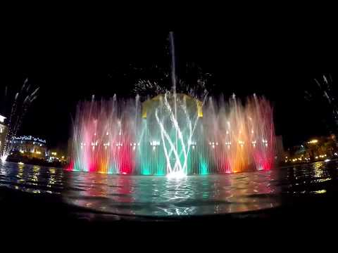Water & Light Show on Republic Square, Yerevan - Armenia (Full HD)