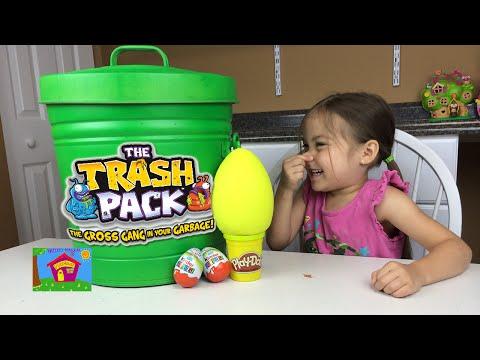 TRASH PACK BIGGEST SURPRISE TRASH CAN TRASHIES Play Doh Surprise Egg Kinder Surprise Eggs Opening