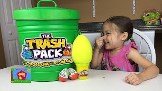 TRASH PACK BIGGEST SURPRISE TRASH CAN TRASHIES Play Doh Surprise Egg Kinder Surprise Eggs Opening
