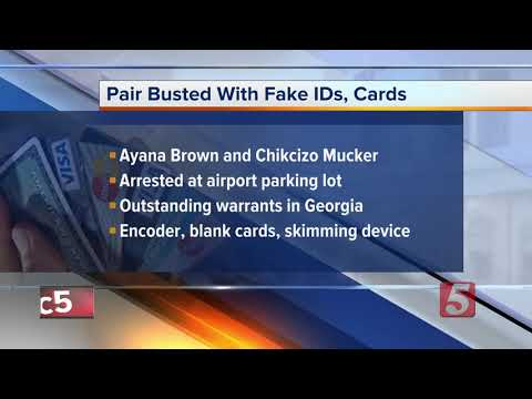 2 busted with fake IDs, credit cards in Nashville
