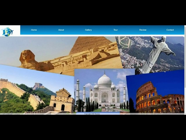 Travel Website project work done by