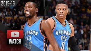 Russell Westbrook & Kevin Durant Full Highlights at Lakers (2016.01.08) - 60 Pts, OKC Feed