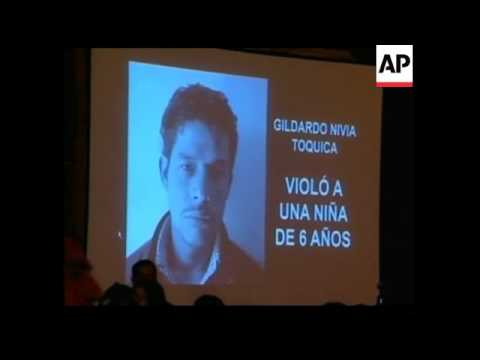 Mayor of Bogota ratifies law to show pix of convicted sex offenders