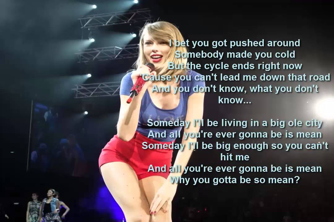 Taylor Swift Mean Lyrics Cover Audio 2015 Hd Youtube