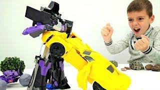 Мультик с игрушками Трансформерами: делаем броню Автоботам