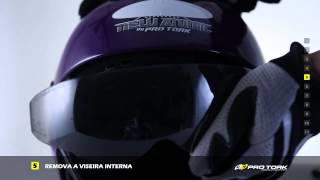 Tutorial   Como trocar a viseira do seu capacete Pro Tork New Atomic