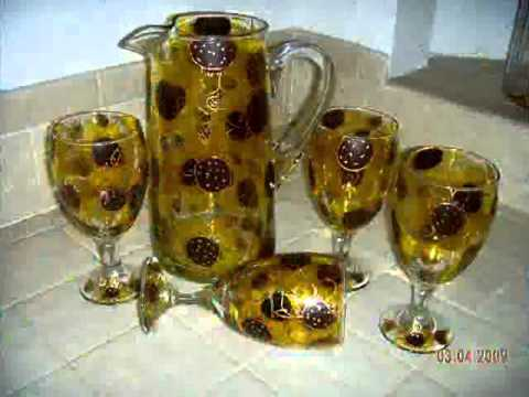 Hand Painted Glassware Sets