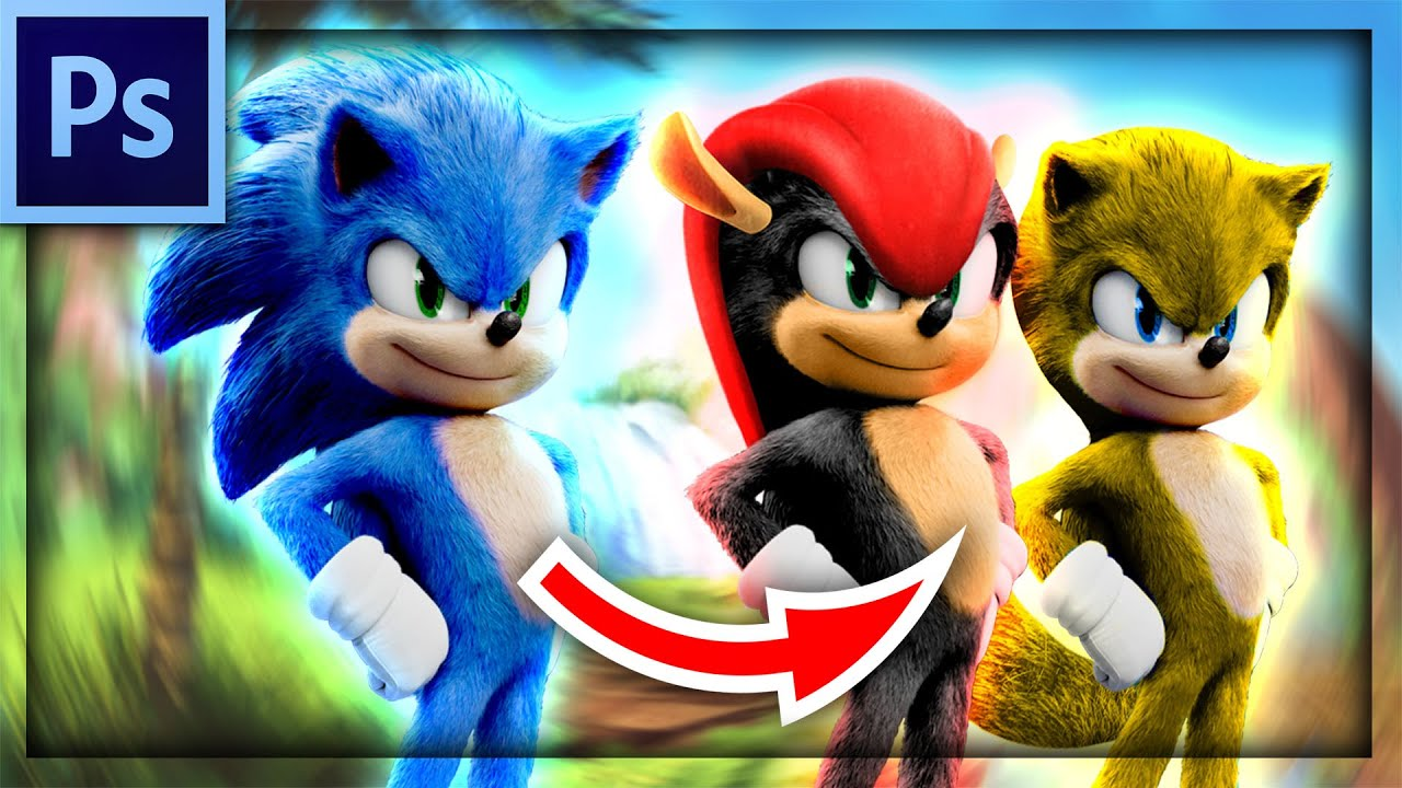 Mighty And Ray in Sonic Movie Edit Redo | Photoshop