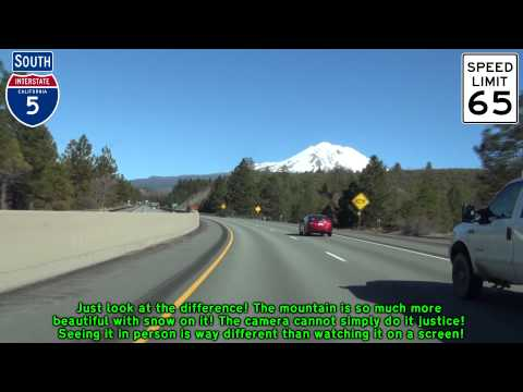 I-5 and Mt. Shasta: Then and Now (March 2014)