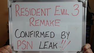 RESIDENT EVIL 3 Remake CONFIRMED in PSN Leak!!