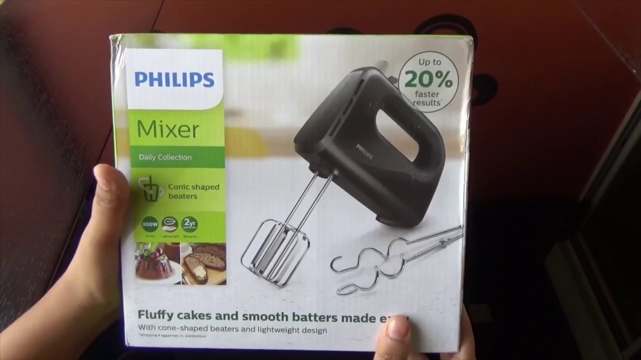 Philips Hand Mixer HR3705/10 300-Watt Hand Mixer (Black ...