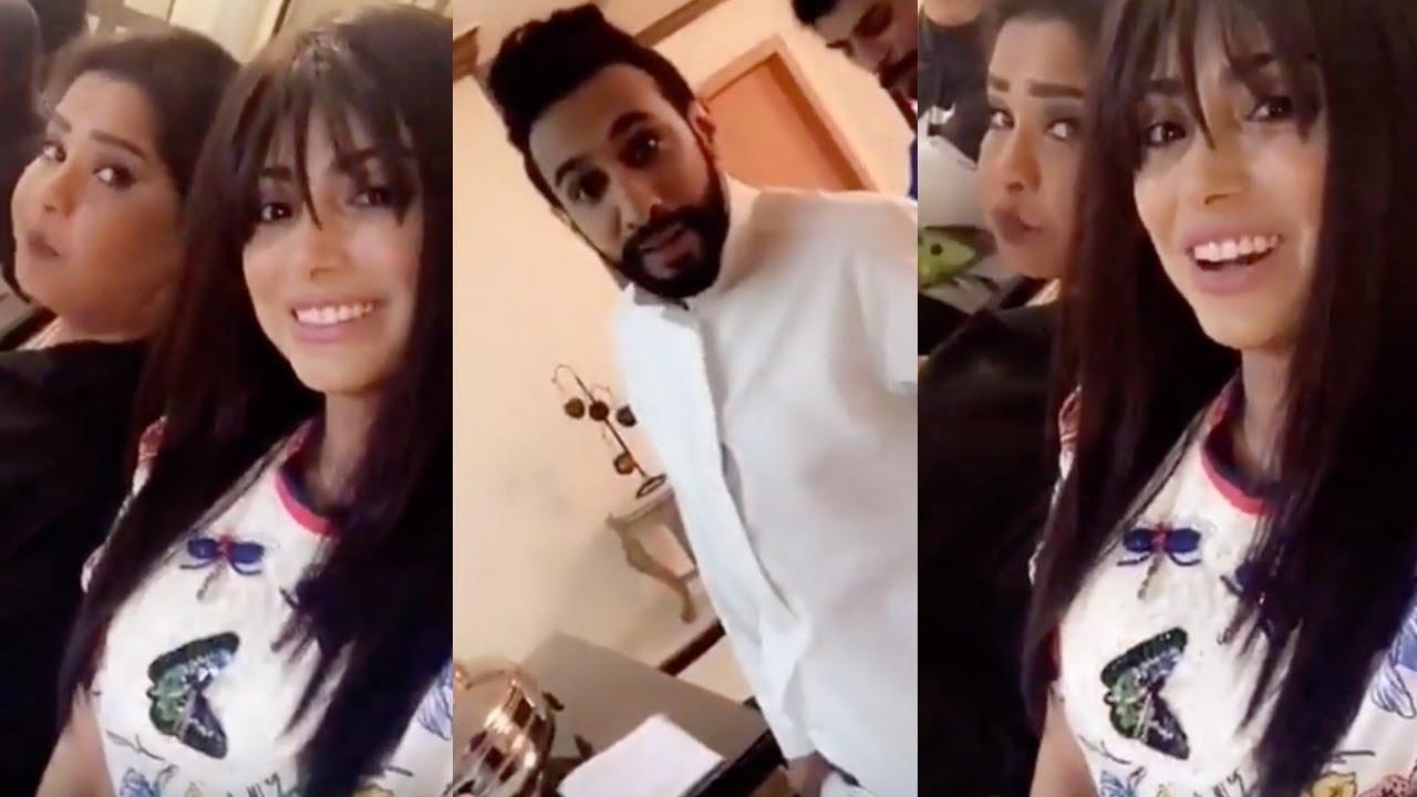 شيلاء سبت مع فهد البناي في كواليس مسلسل رمضان 2019 Youtube