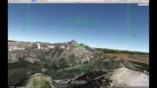 Tetons Google Earth Flight Simulator