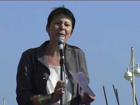 Caroline Lucas Green Party MEP Rage Against Labour Brighton 2009