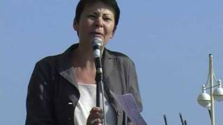 Caroline Lucas Green Party MEP Rage Against Labour Brighton 2009