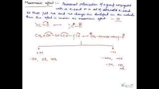 Mesomeric Effect, Mesomeric Effect Mechanism