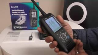 the icom ic m93d vhf handheld with dsc