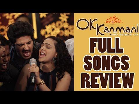 Ok Kanmani Full Songs  Review  AR Rahman  Dulquer Salman  Nithya Menen