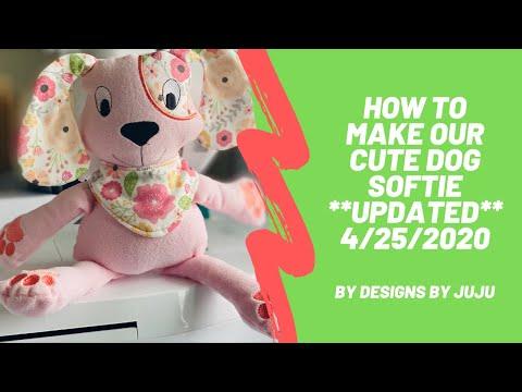 In The Hoop Cute Dog Softie UPDATED tutorial