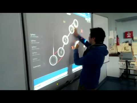 Playing Osu! on a huge touchscreen is hard