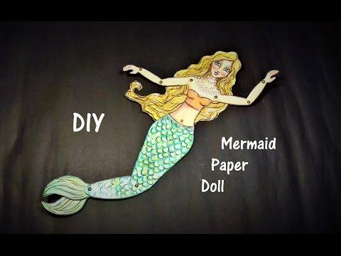 ❤DIY: Mermaid Paper Doll #12MonthsOfMermaids Challenge #April 2017