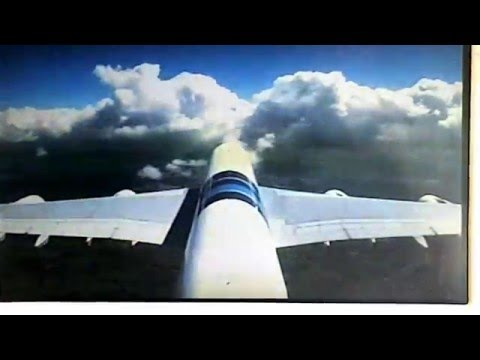 Malaysia Airlines A380 take-off. Tail camera view