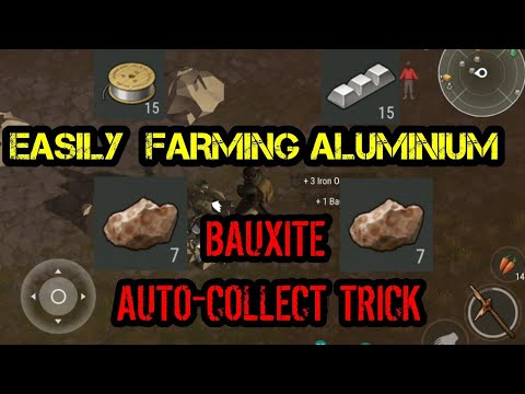 HOW TO FARM ALUMINIUM EASILY - BAUXITE AUTO-COLLECTING TRICK - Last Day On Earth: Survival