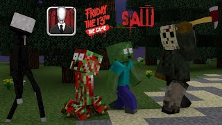 Best Monster School PAT And JEN : HORROR GAMES CHALLEGE - Minecraft Animations