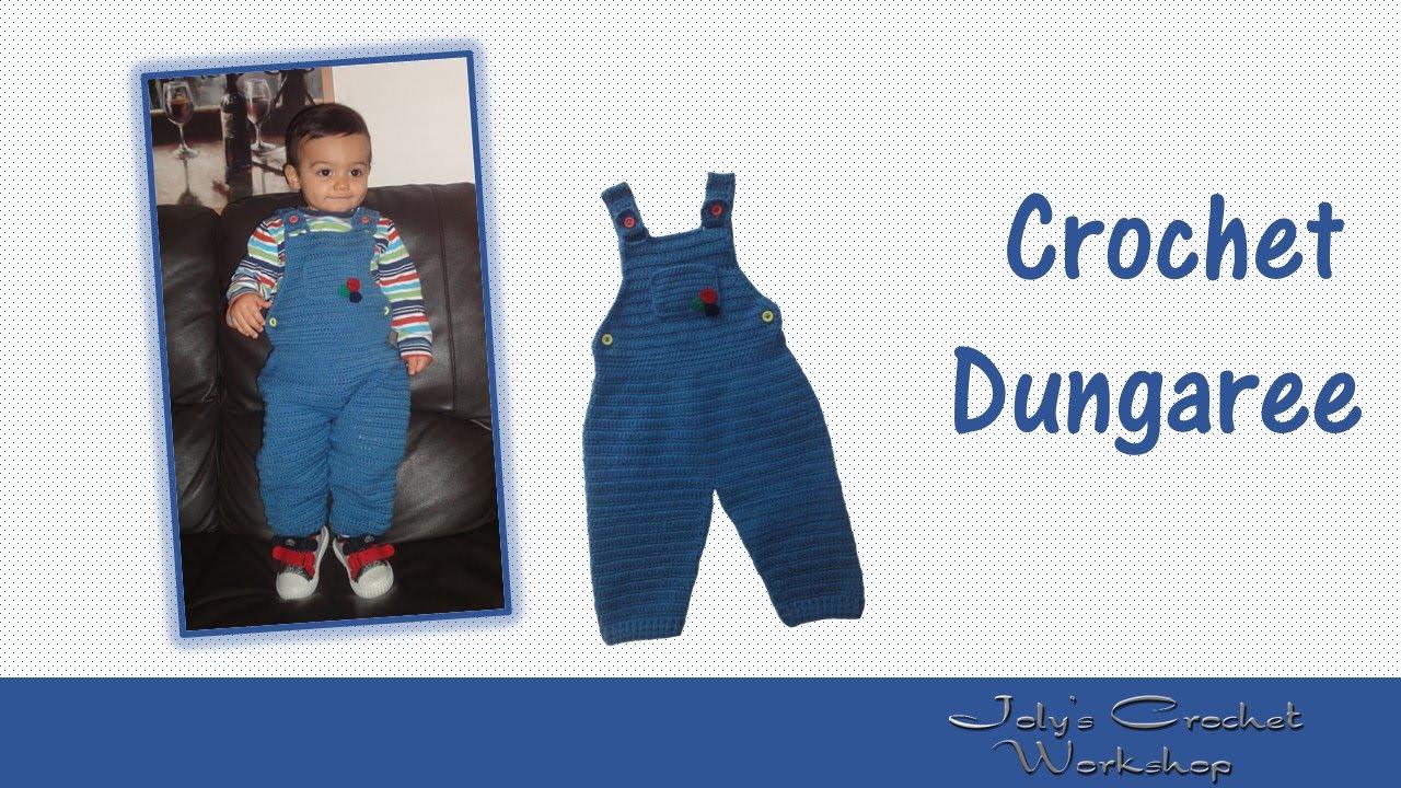 Crochet dungaree for boys - YouTube