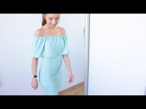 DIY Летнее платье с воланом | Summer off shoulder dress