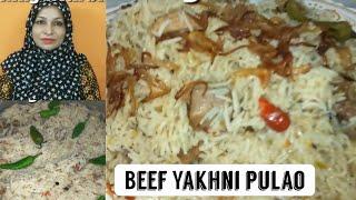YAKHNI PULAO | بیف یخنی پلاو | Easy yakhni pulao Recipe | Cooking with shabana