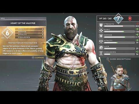 BEST ARMOR SET!! VALKYRIE vs MIST ARMOR! (God of War 4)