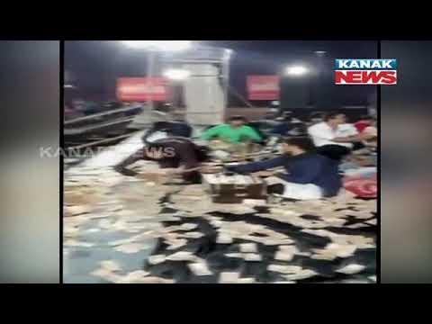 Notes Showered In Ganapathi Pendal At Rajkot Raja In Gujarat