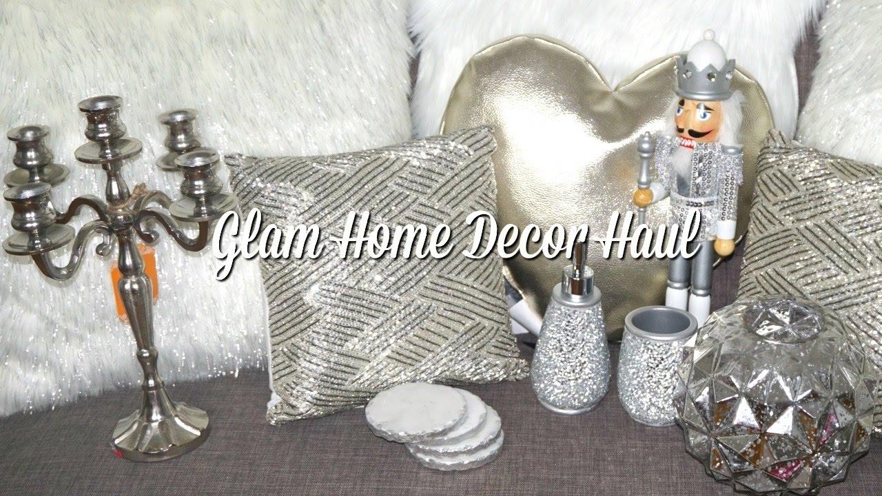 silver glam home decor haul homegoods burlington target and more youtube