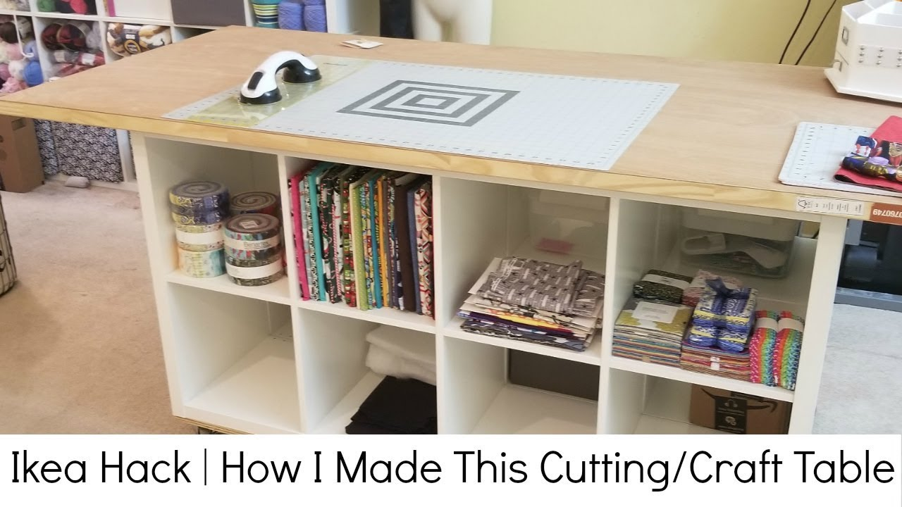 Ikea Hack How I Made My Cutting Sewing And Crafting Table Youtube