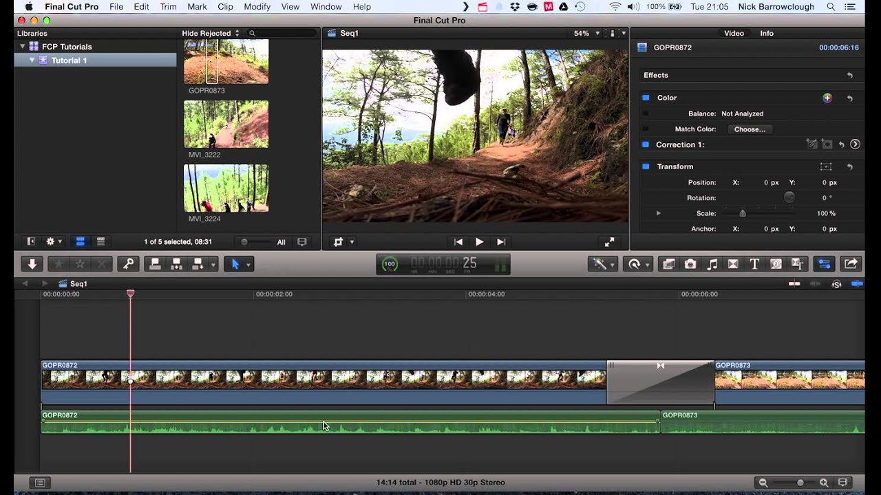 Final Cut Pro X - Audio track separation