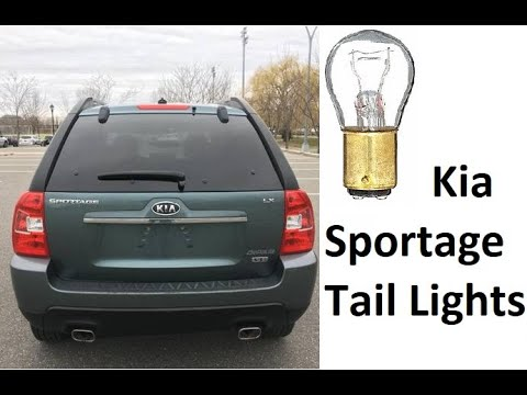 How to replace Tail Light Bulbs on Kia Sportage Brake turn revers