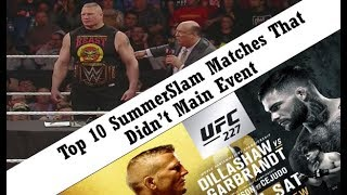 Episode 3 - Top 10 SummerSlam Matches That Didn't Main Event & More (Podcast Wrestling Society)