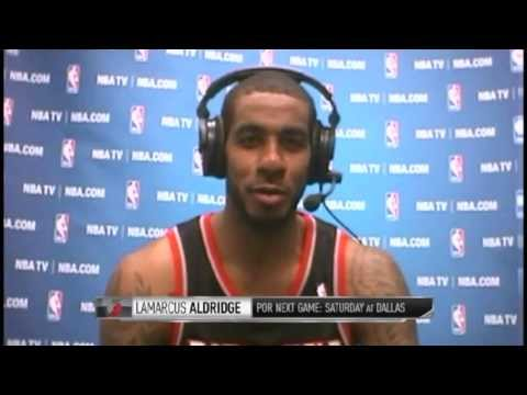 LaMarcus Aldridge Joins GameTime Friday Night | Blazers vs Spurs | January 17, 2014 | NBA 2013-14