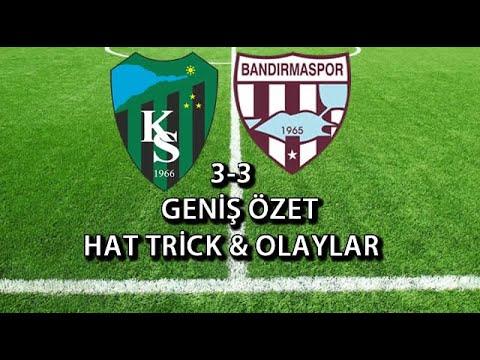 Kocaelispor 3 - 3 Bandırmaspor ( Geniş Özet ) | Video Denizi