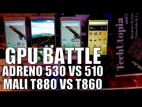 Adreno 530 vs 510 vs Mali T880 vs T860 Gaming comparison/Speed test/Gameplay/Games(GPU battle)Review
